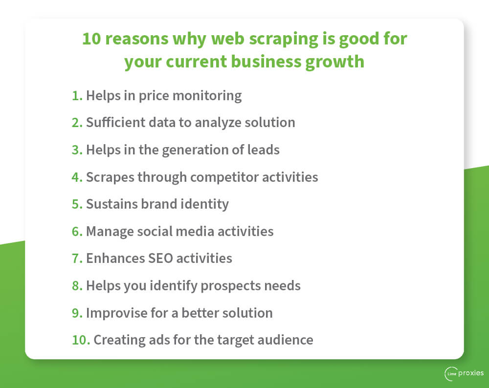 10 reasons why web scraping is good for your current business growth
