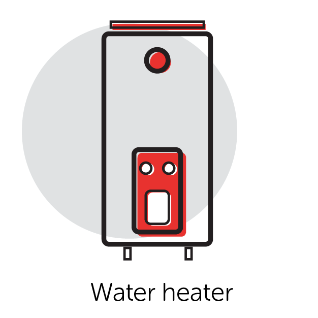 Graphical Icon of a Water Heater