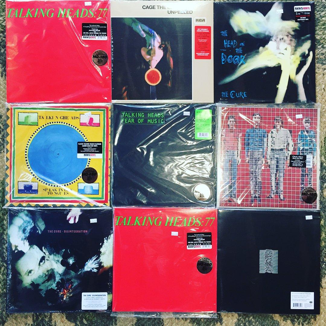 Collage of records. Miles Davis, Tina Turner, Bill Evans & more.