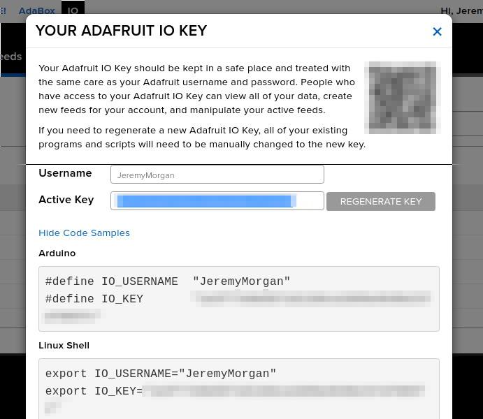 Connect to Adafruit IO