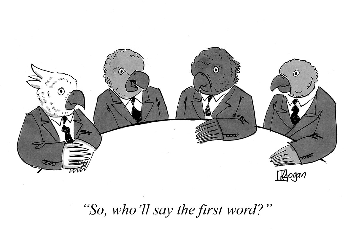 So, who'll say the first word?