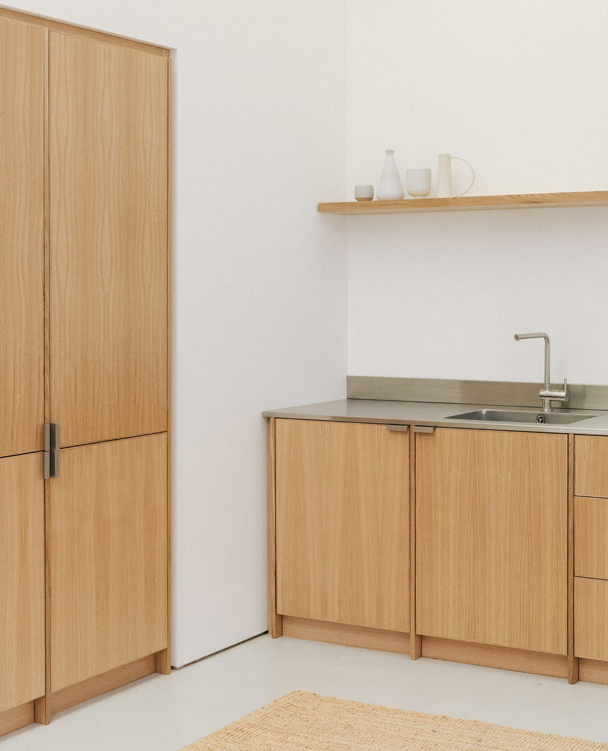 From Kitchens oak and stainless steel kitchen.
