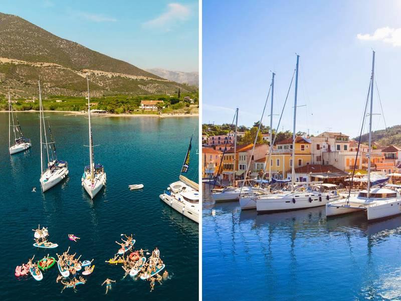 Greece Sailing Infographic: Saronic Vs. Ionian