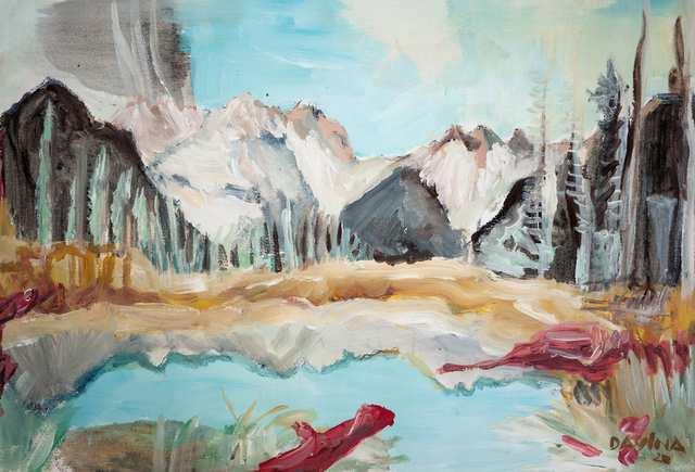 Sacred Landscapes Beaver Dam, acrylic on paper