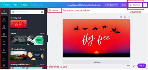 Step 4 with Canva: Download your Image