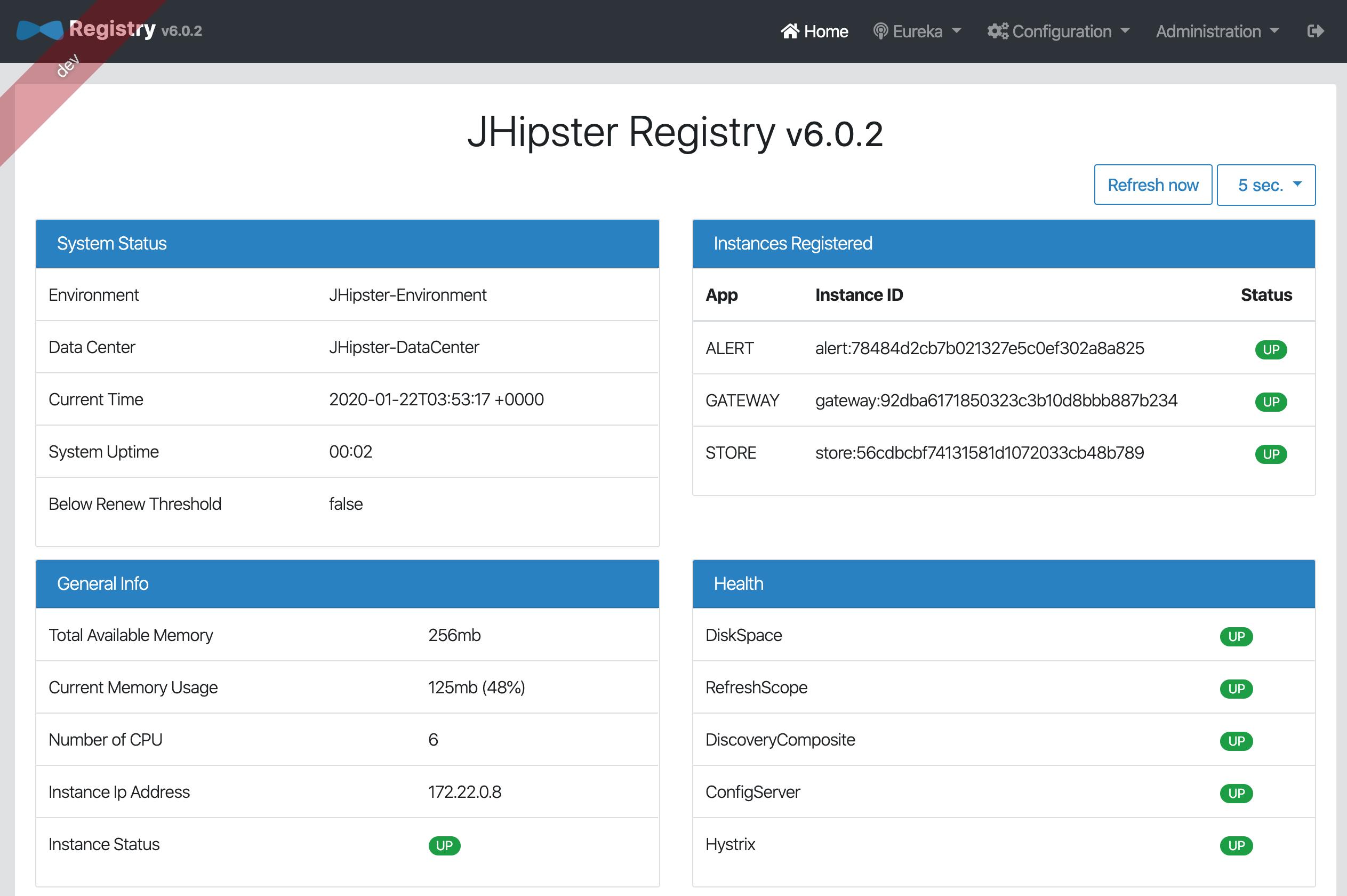 JHipster Registry