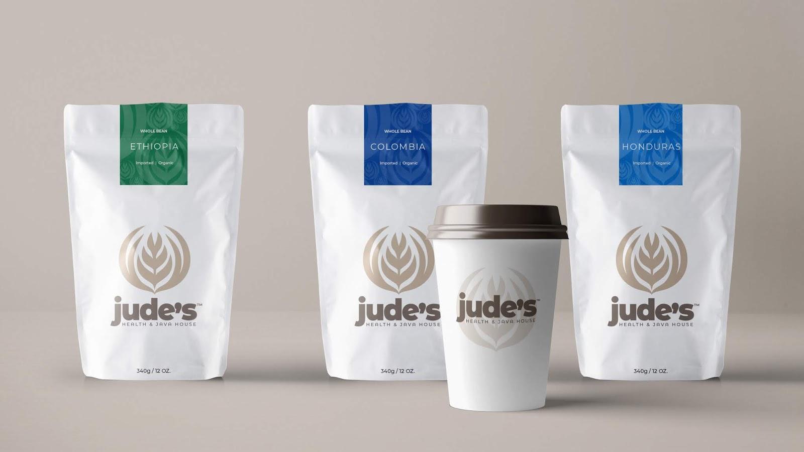 Jude's coffee packaging