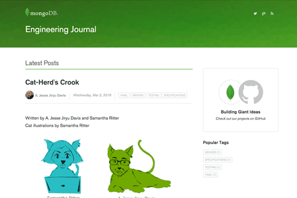 The MongoDB Engineering Journal -- for builders, by builders.