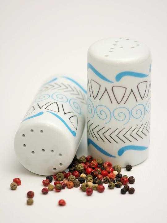 Porcelain Salt and Pepper set Motifs