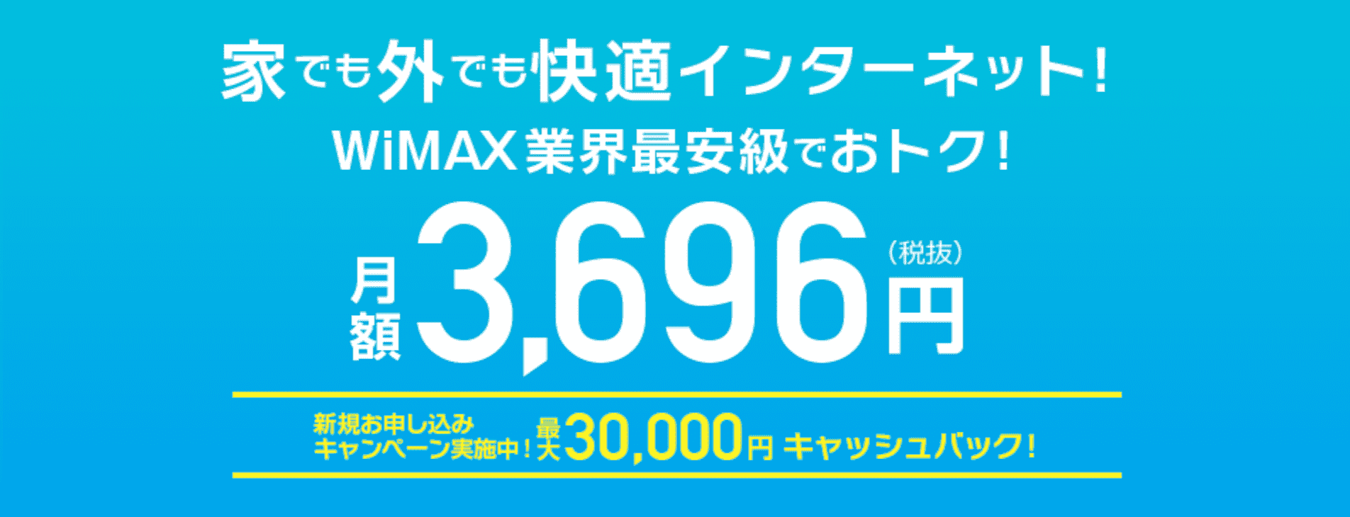 Drive WiMAXのキャンペーン