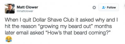 Dollar shave club tweet
