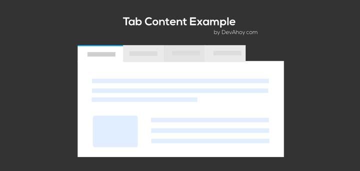 เทคนิคการทำ Tab ให้กับเว็บไซต์
