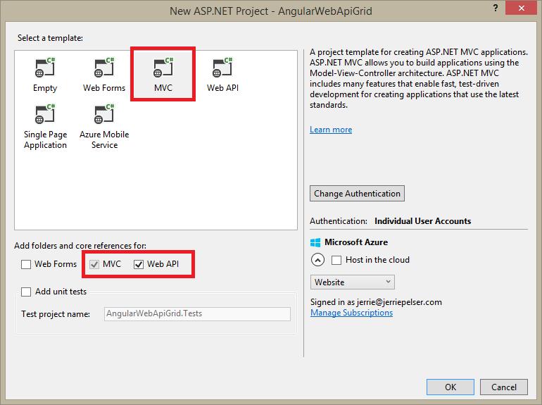 angularjs download zip file from web api