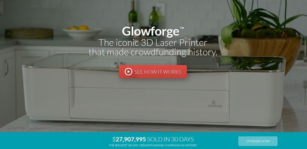 glowforge homepage