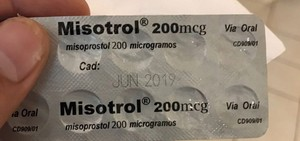 blister pack of misotrol abortion pills