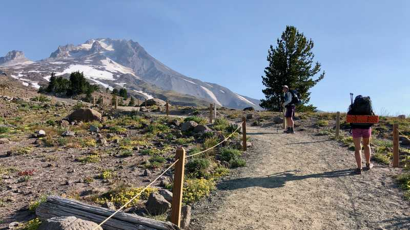 Leaving Timberline Lodge
