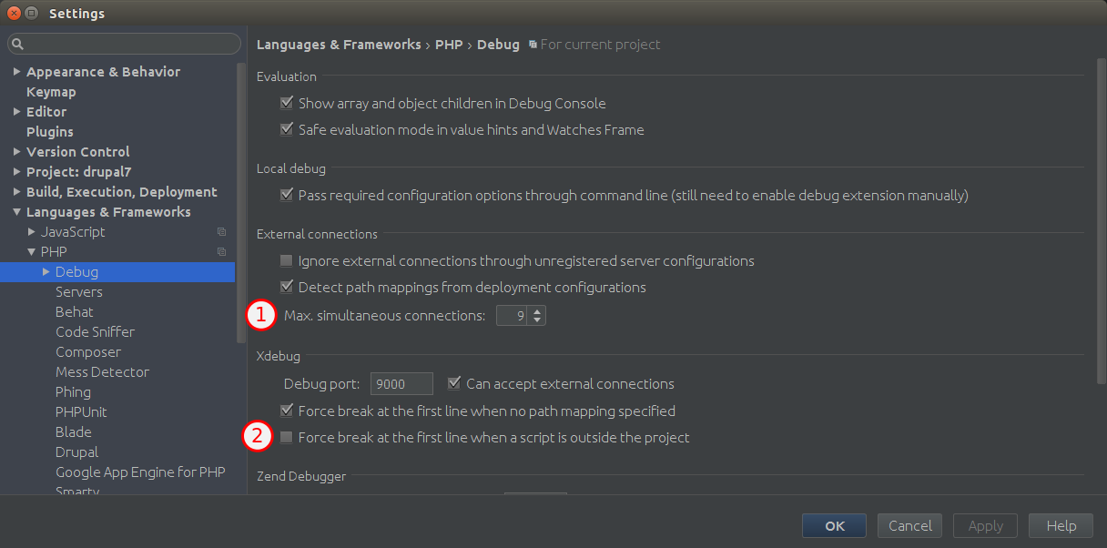 PHPStorm debugging with drush