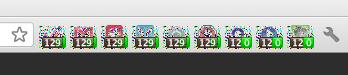 Deformed Chrome App Icons