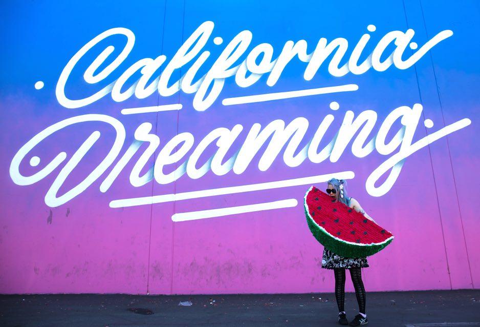 California Dreaming wall in LA
