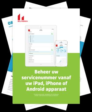 Gratis e-boek van de Belfabriek: Beheer uw servicenummer vanaf iOS en Android.