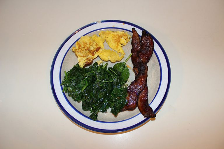 Chipotle Candied Bacon and Eggs for breakfast