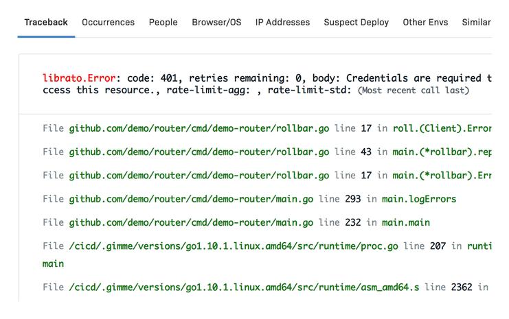 Go Error details & metadata