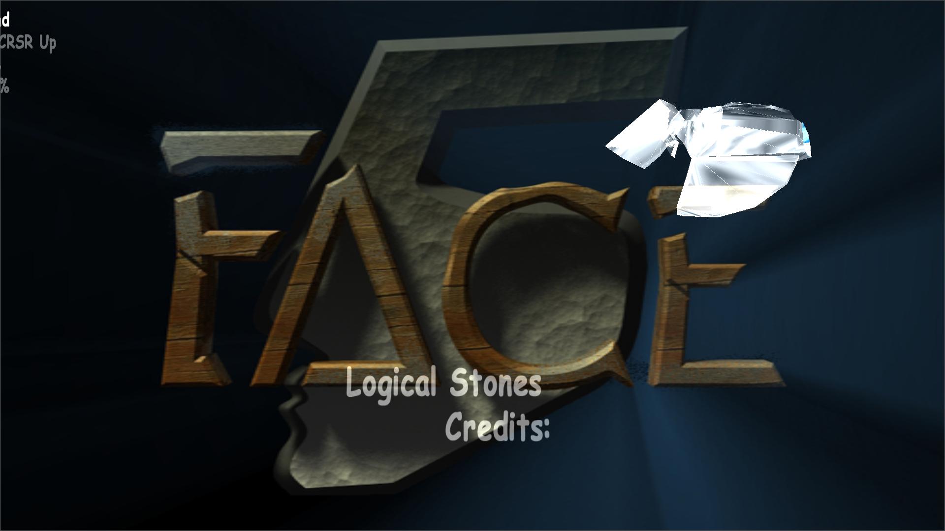 Broken main menu of Logical Stones