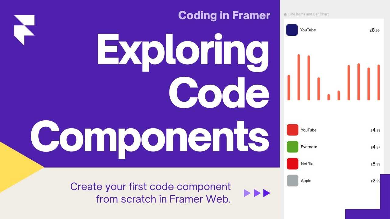 """Title card showing a screenshot of the bank app project and the title """"Code Components 
