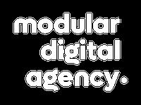 Logo Modular Digital Agency Branco