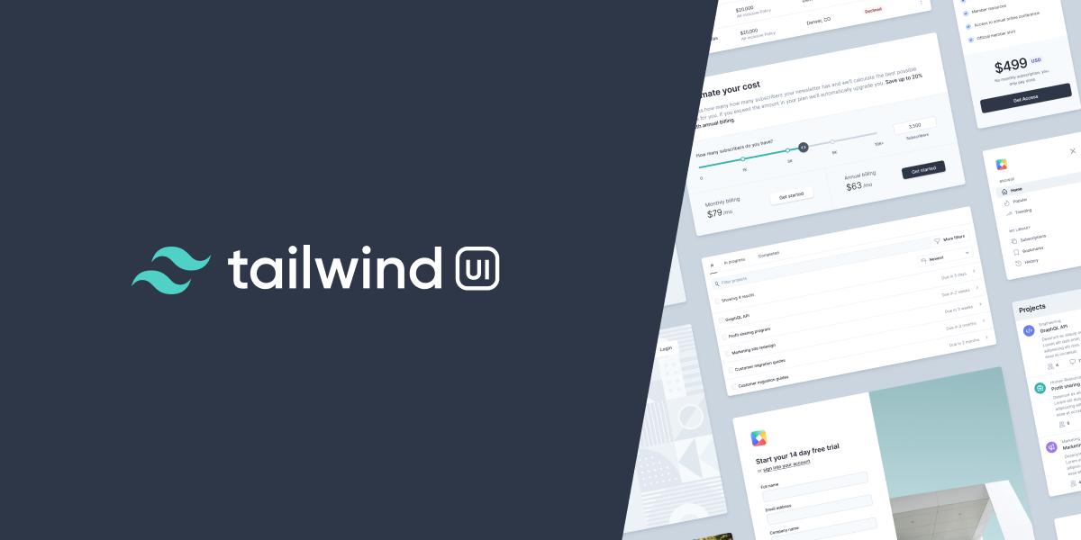Tailwind website UI
