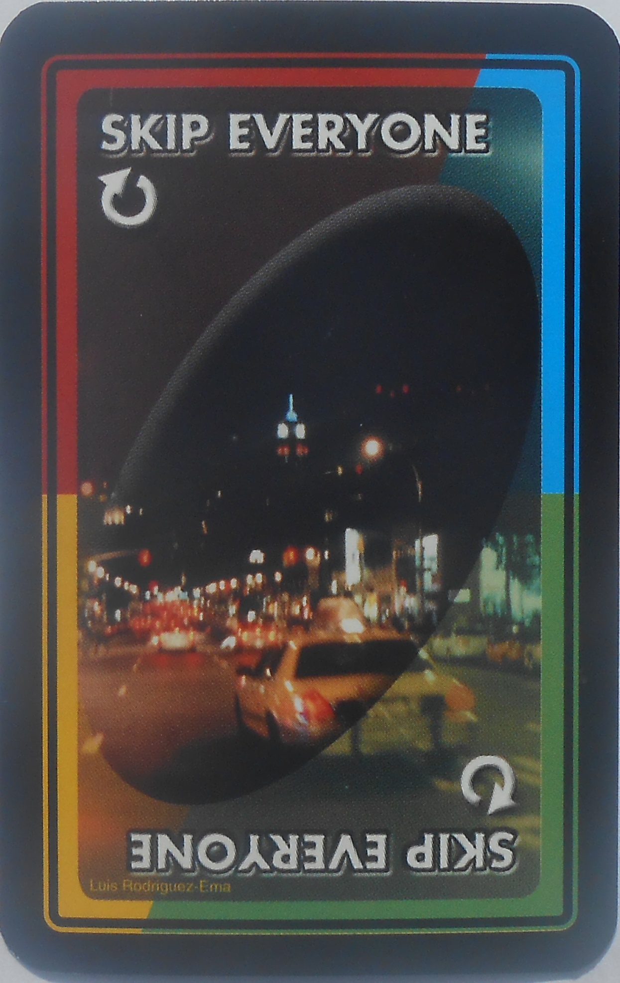 New York Uno (Skip Everyone Card)