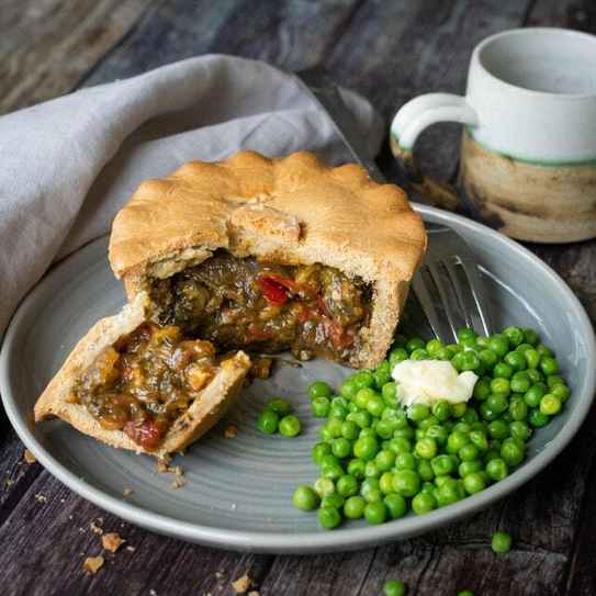 Squash, Spinach and Vegan Feta Pie