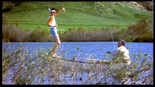 mr miyagi and daniel on river