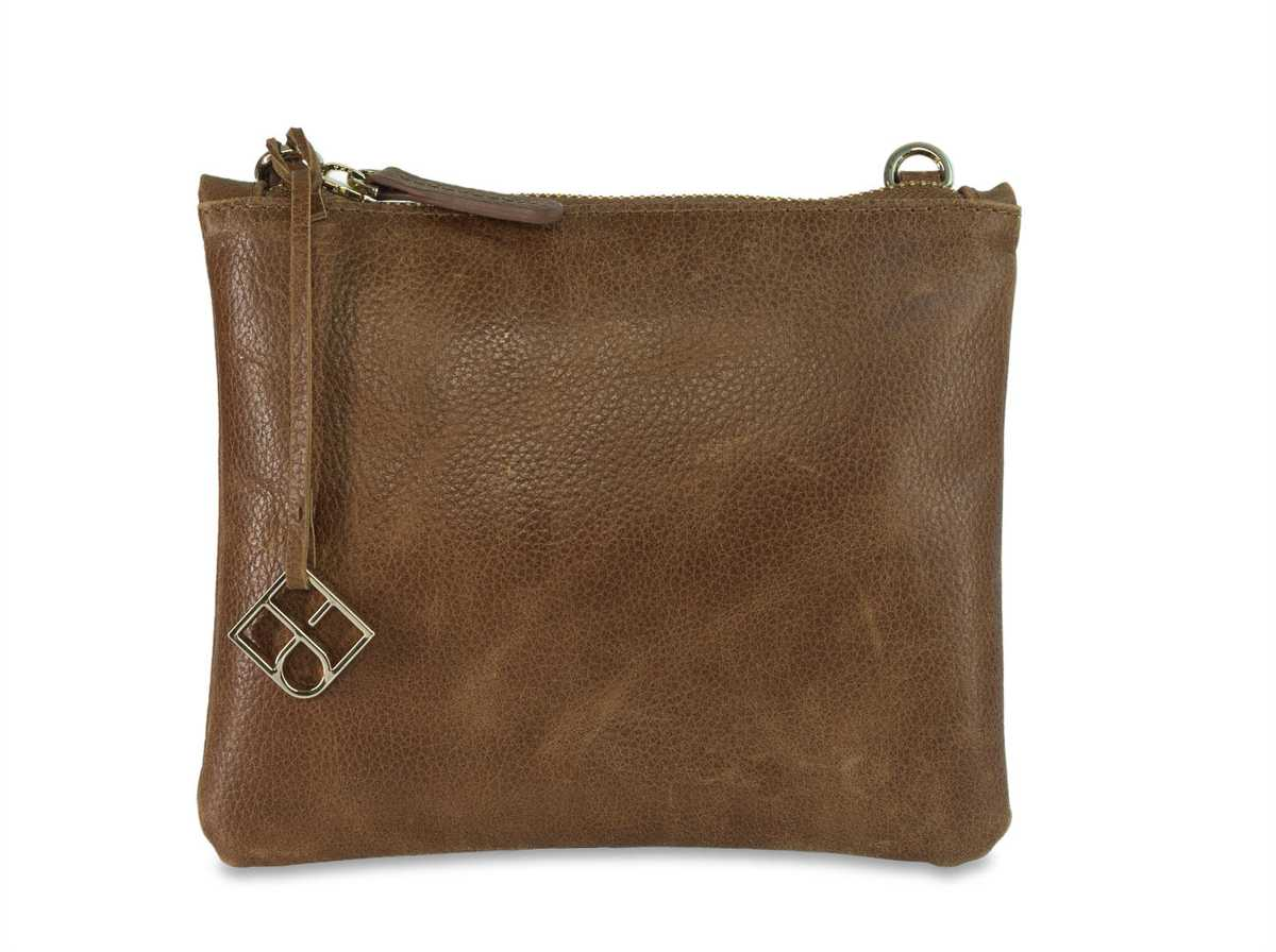 Peacock Pouch Single Mini - brown