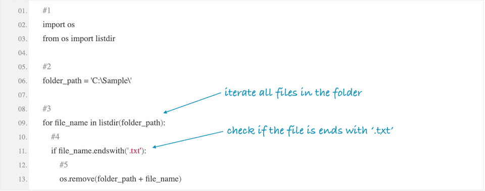 python delete all files with specific extension
