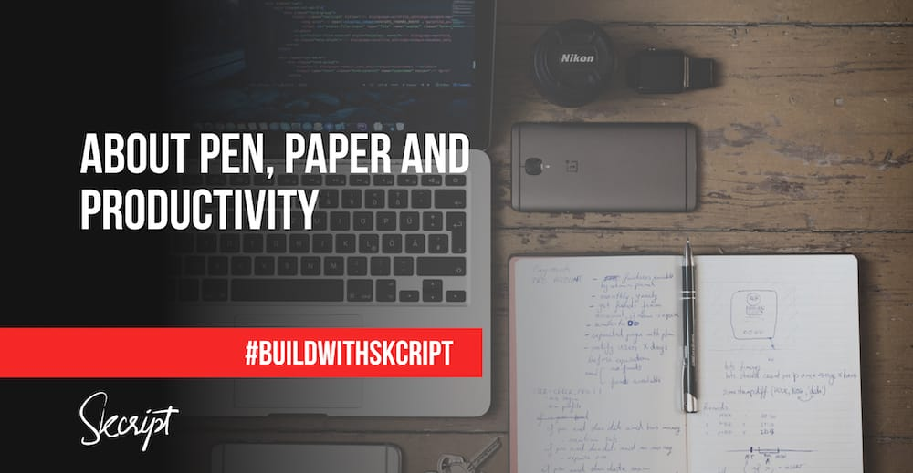 I run a technology company, and I moved to Pen and Paper
