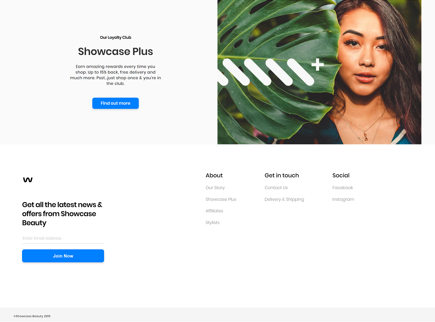 Showcase footer