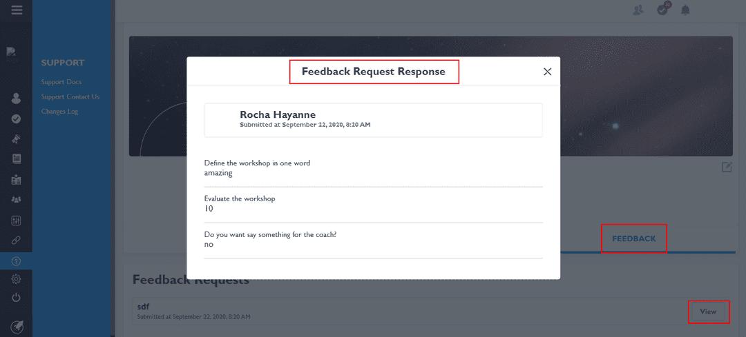 View response