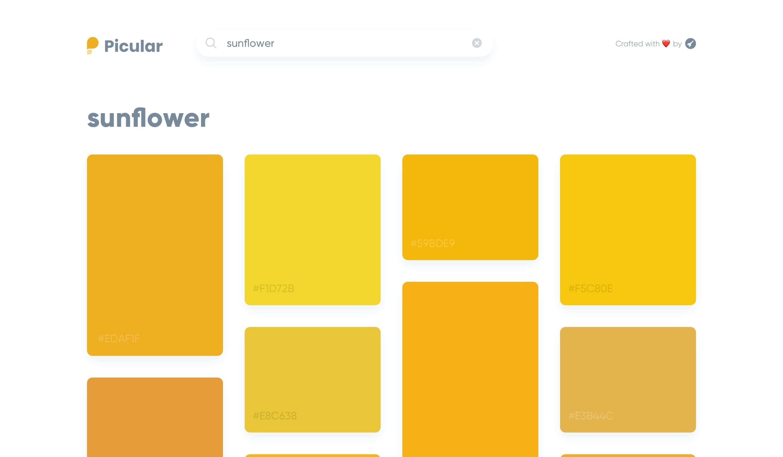 Picular Screenshoot - sunflower