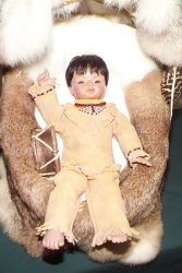 Picture of a Native American papoose