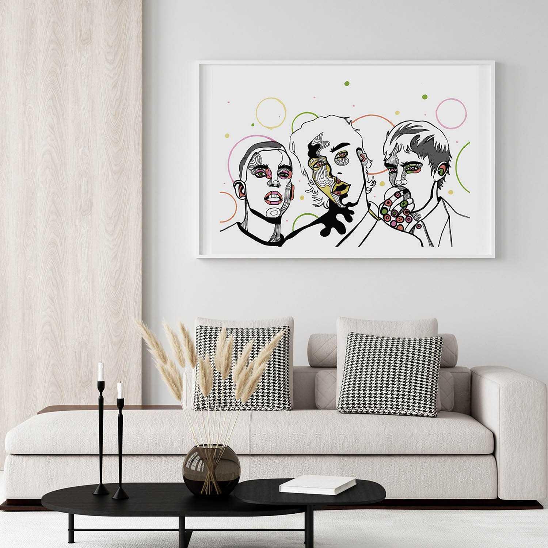 'Popping Candies' Giclée Art Print