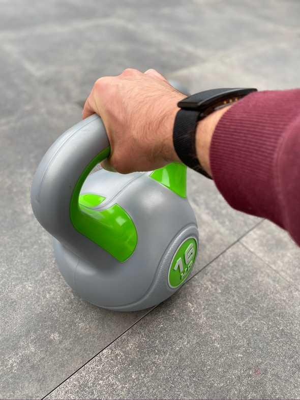 Intense kettlebell workout whoop strap