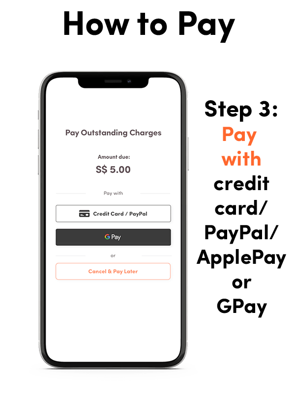 A screenshot of the updated NLB Mobile app (Feb 2021 release), showing how to pay fees and fines - step 3.