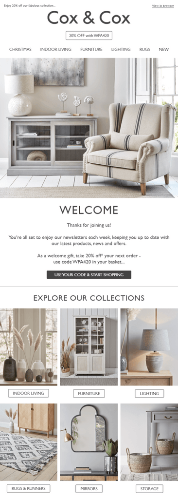 Cox product showcase