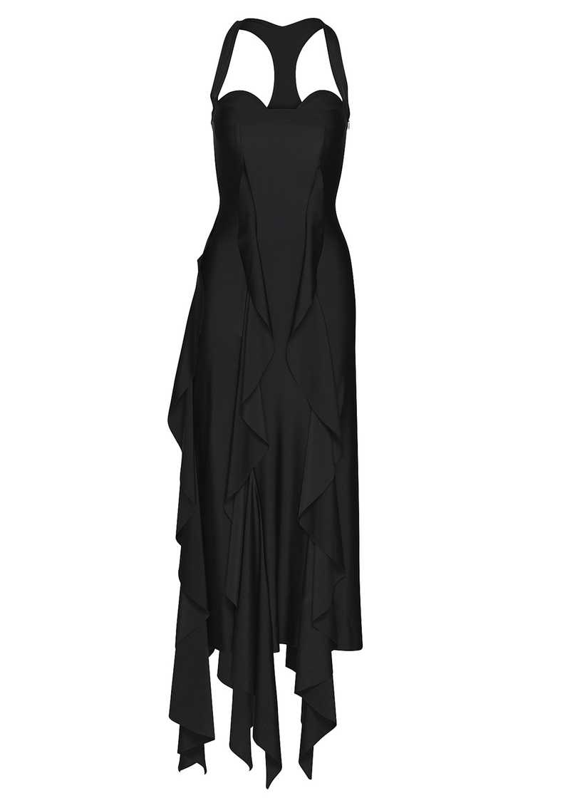 BAL dress in black. GmbH Spring/Summer 2021 'RITUALS OF RESISTANCE'