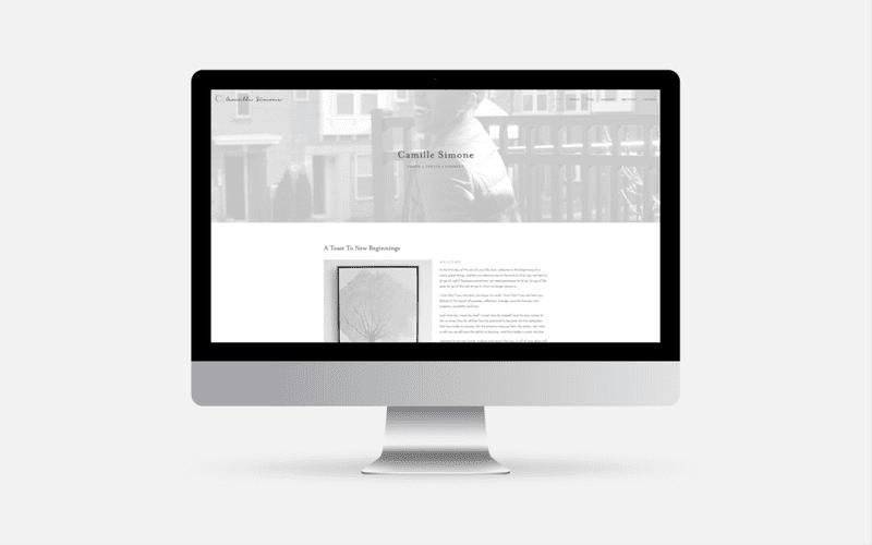 Camille Simone brand desktop view
