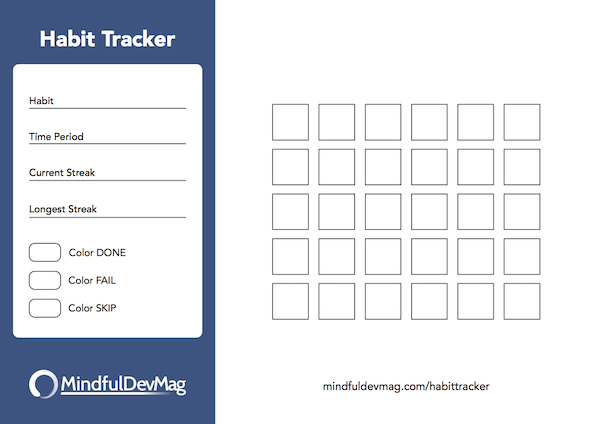 printable habit tracker colored version