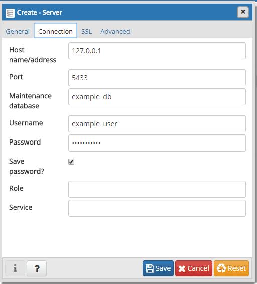 pgAdmin Password