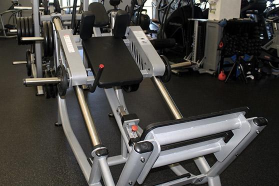 Angled squat machine.