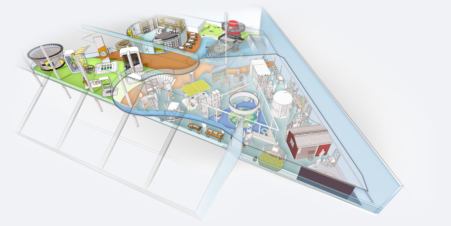 Bird's eye view of science centre